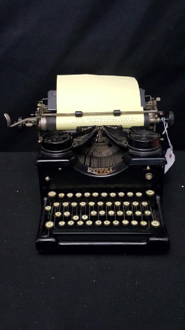 Royal 10 Typewriter with Beveled Glass Windows