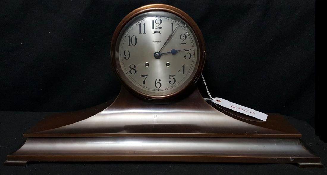 Tiffany & Co. Jockey Award Bronze Mantle Clock