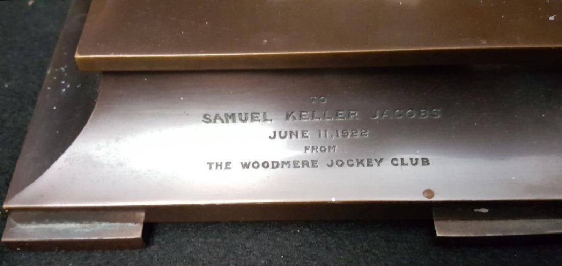 Tiffany & Co. Jockey Award Bronze Mantle Clock - 3
