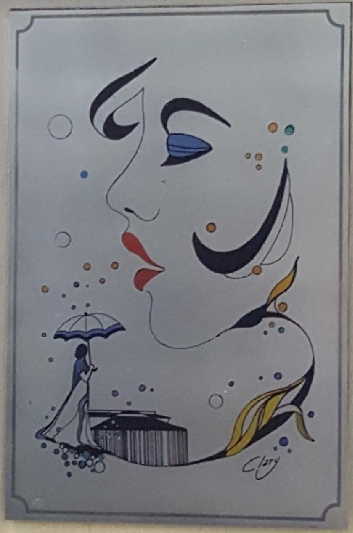 """Italian Painting on Silver Signed """"Clary"""""""