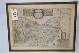 Map, Wagria by J. Blaeu. 1662