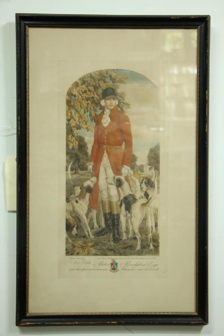 Vintage Gordon Ross Fox Hunting Print.