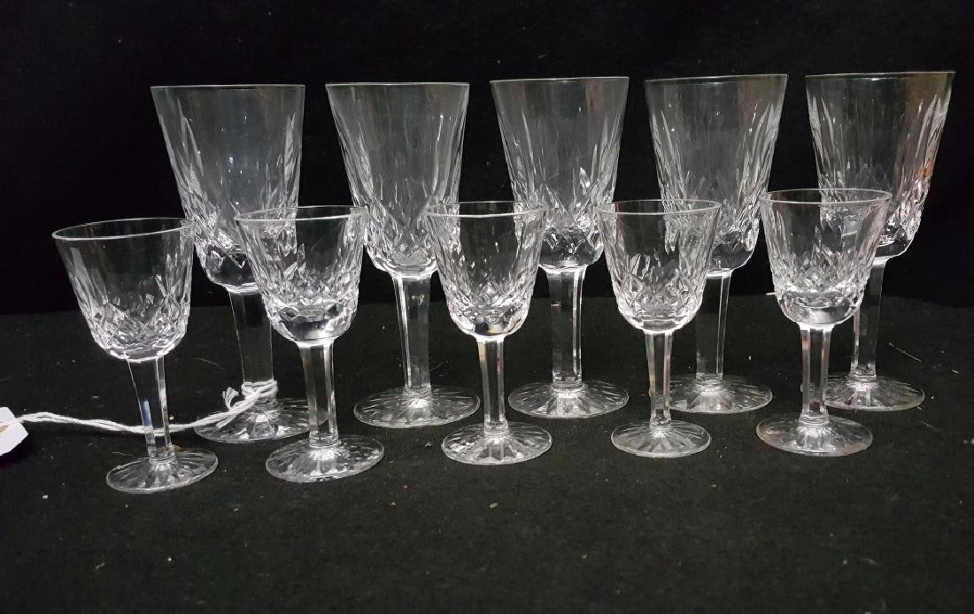 (10) Waterford Crystal Lismore Sherrys & Cordials