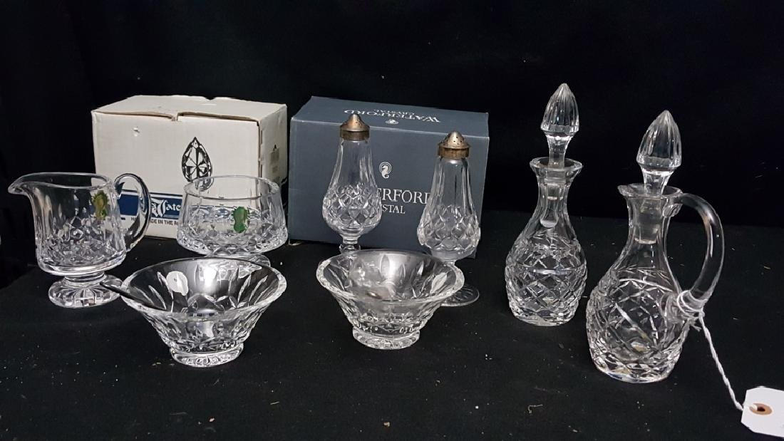 Waterford Crystal; Salt/ Pepper, Sugar/ Creamer &