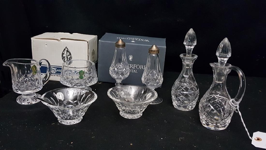 Waterford Crystal; Salt/ Pepper, Sugar/ Creamer &