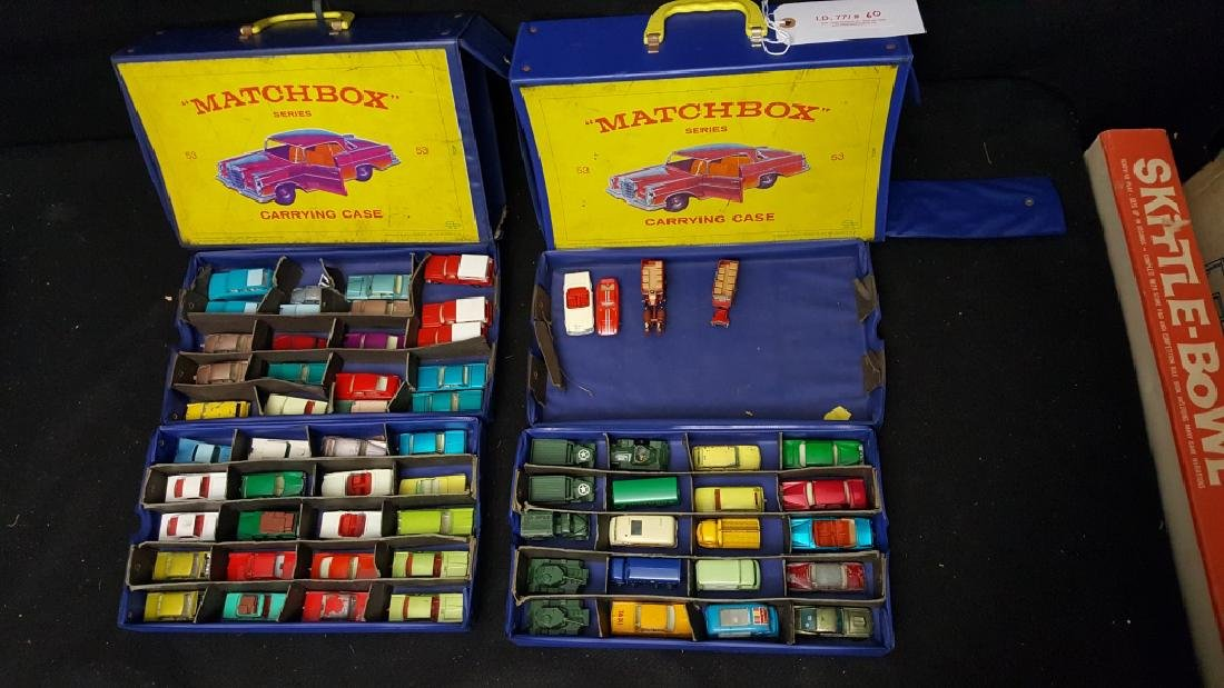 64 MATCHBOX 2 case collection of Army Vehicles +