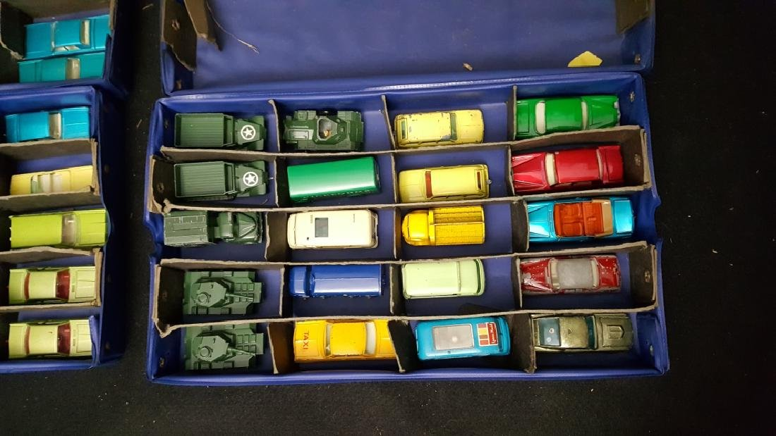 64 MATCHBOX 2 case collection of Army Vehicles + - 2