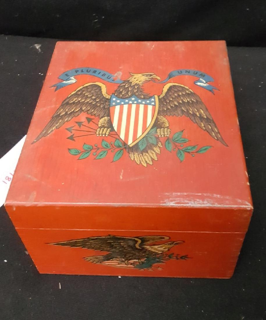 E. Pluribus Unum painted box