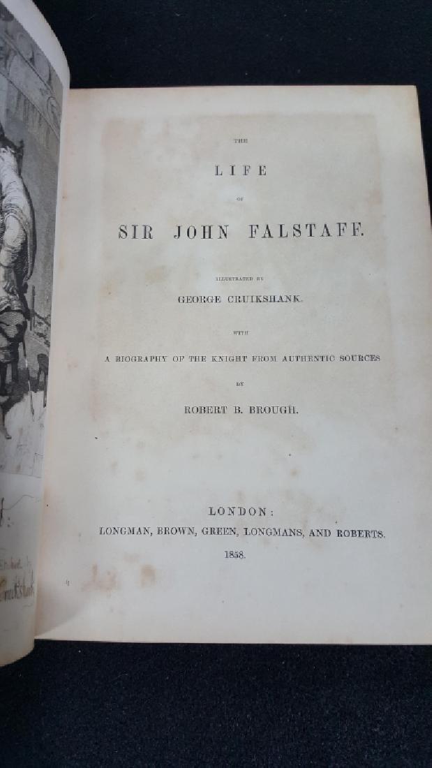 "Antique Book ""Life Of Sir John Falstaff"" 1858"
