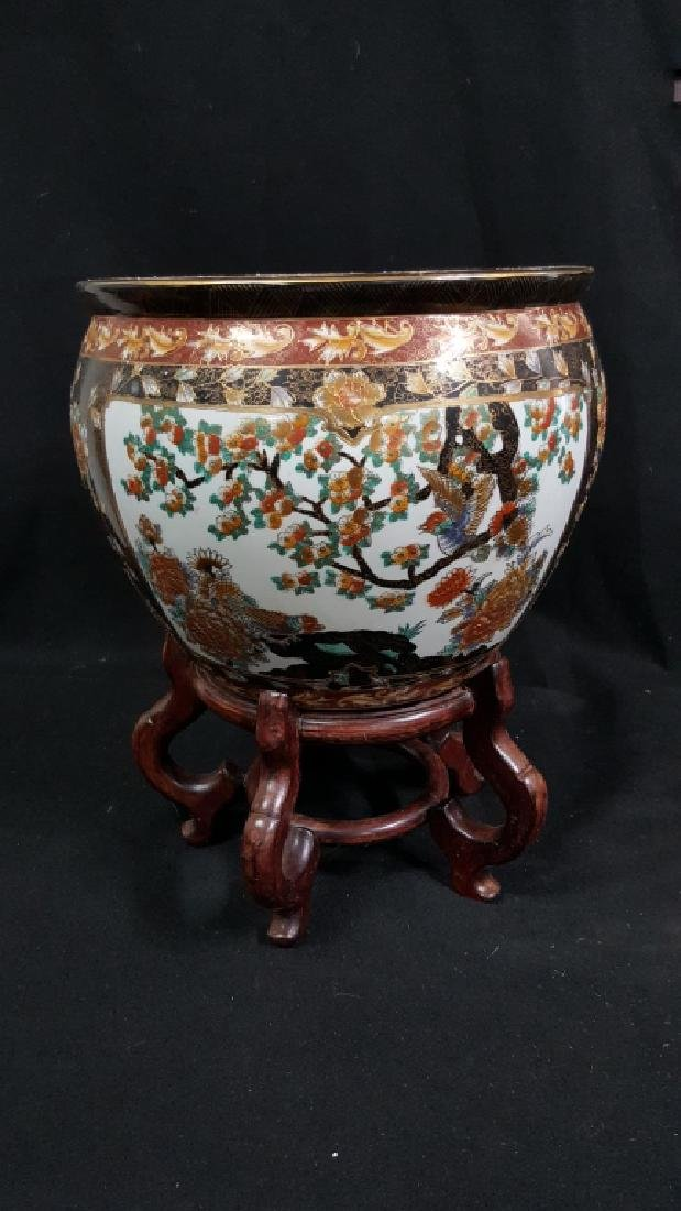 Painted Chinese Planter - 2
