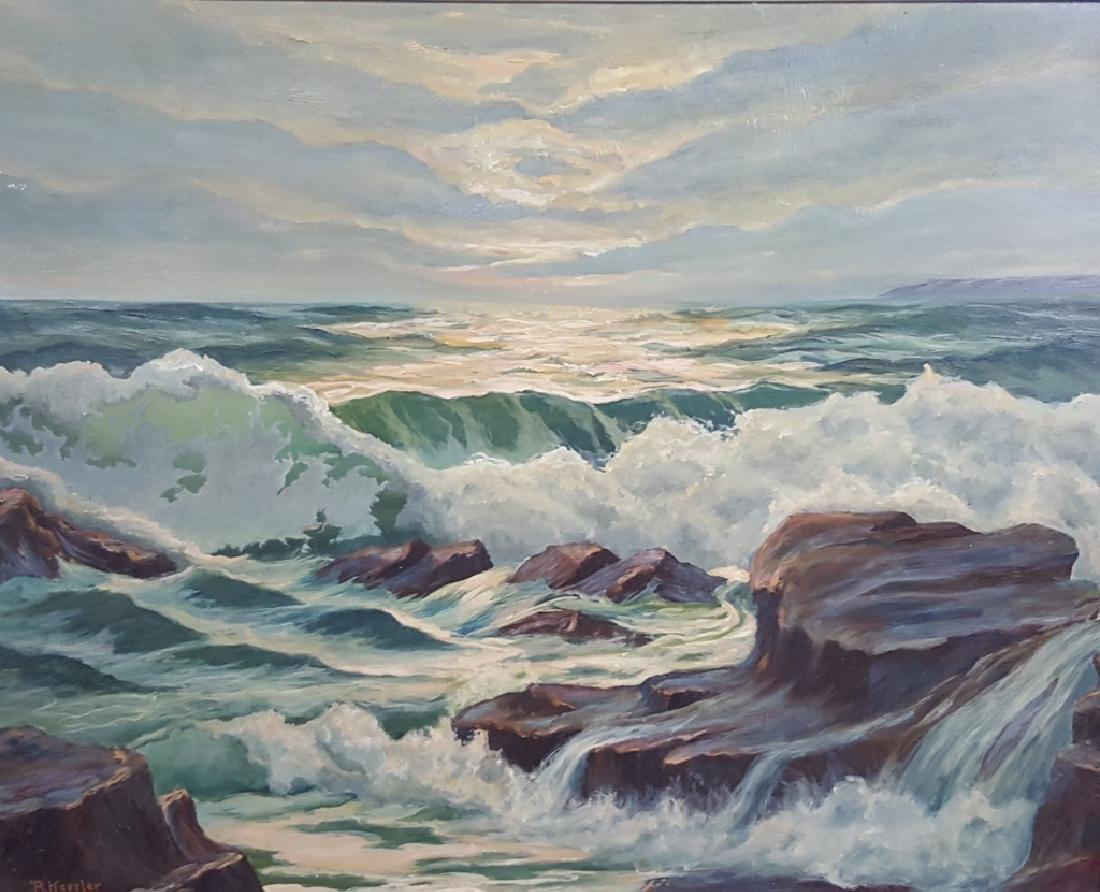 Oil on Board Painting Signed R. Kessler
