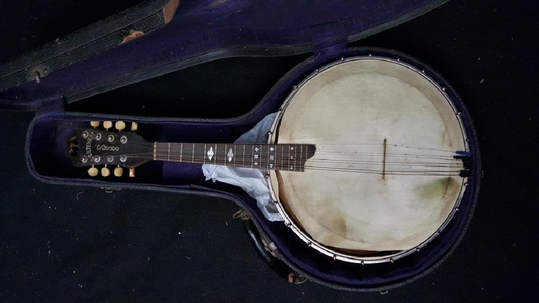 S. S. Stewart Banjo signed Joe Rodgers Jr.