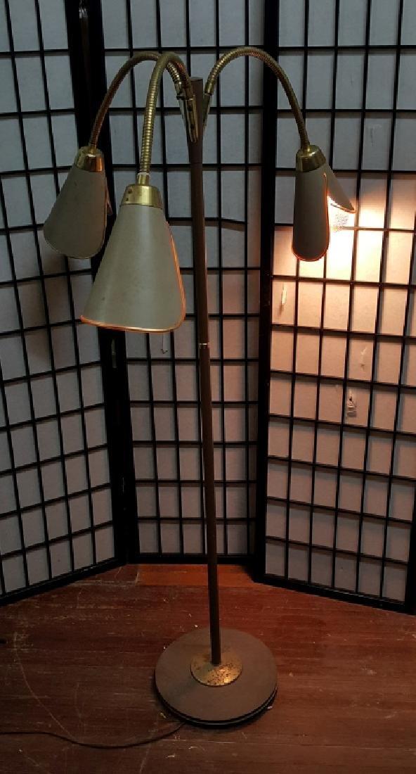Mid Century Brass & Metal Tulip Floor Lamp