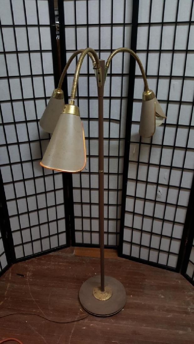 Mid Century Brass & Metal Tulip Floor Lamp - 3