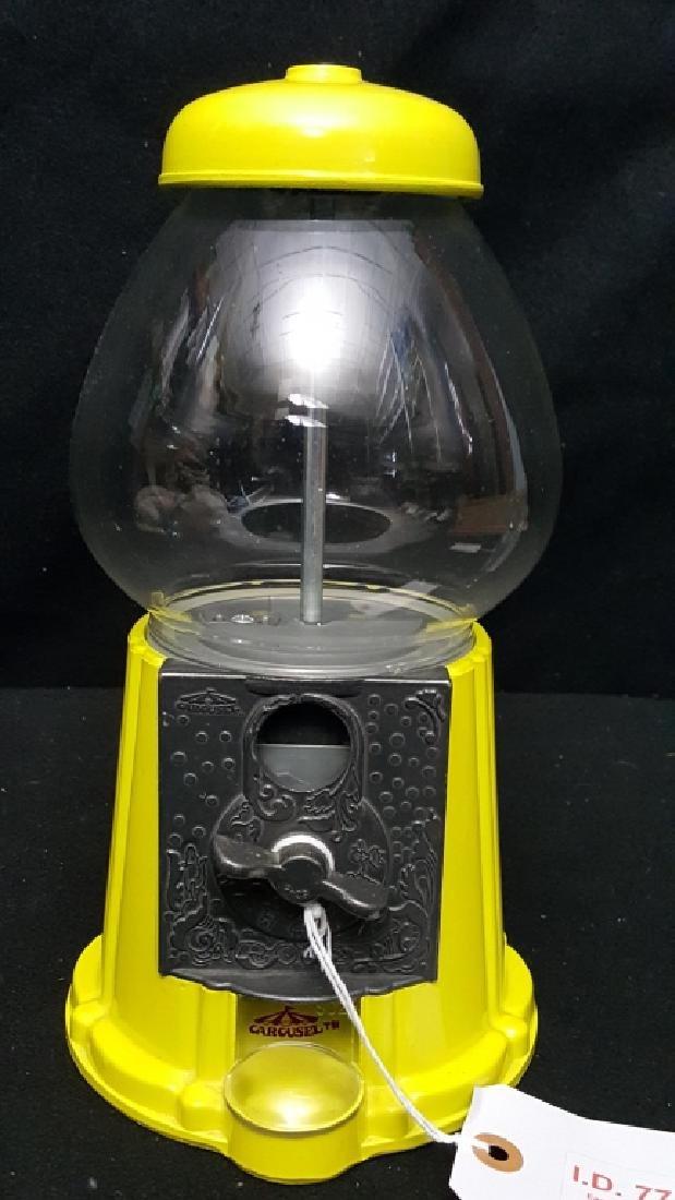 Carousel Yellow Countertop Gumball Machine