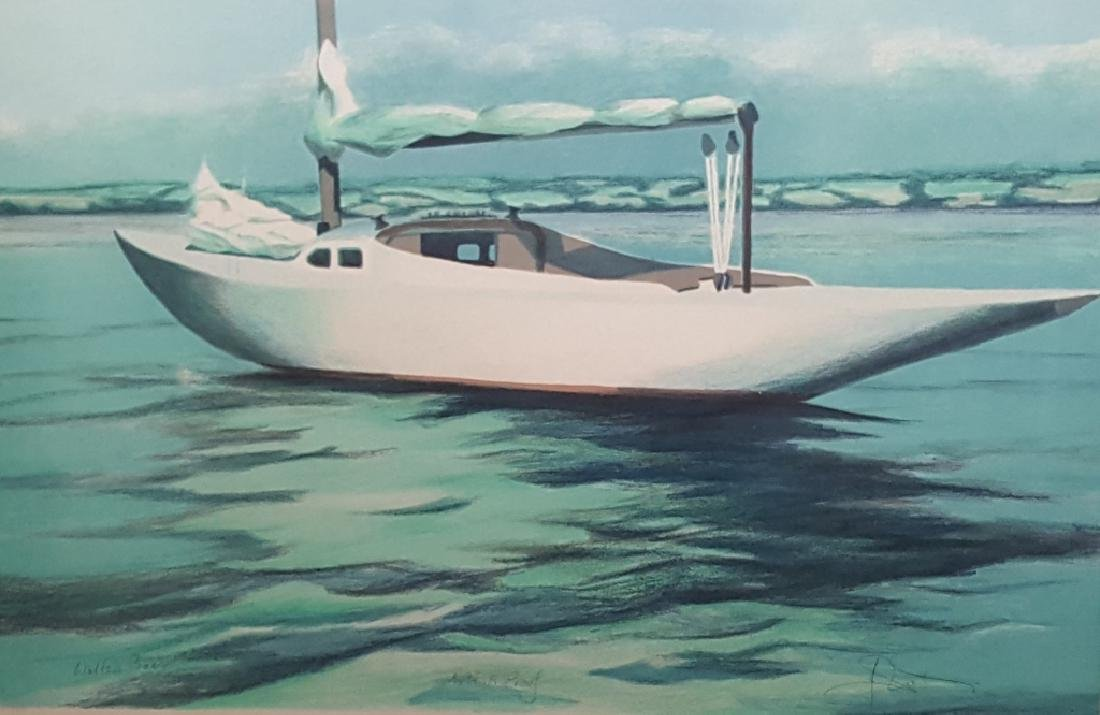 "Signed Artist Proof ""Walter's Boat"""