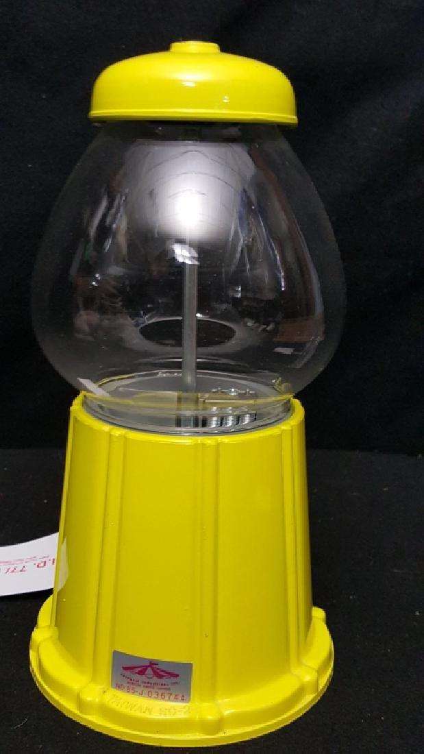 Carousel Yellow Countertop Gumball Machine - 2