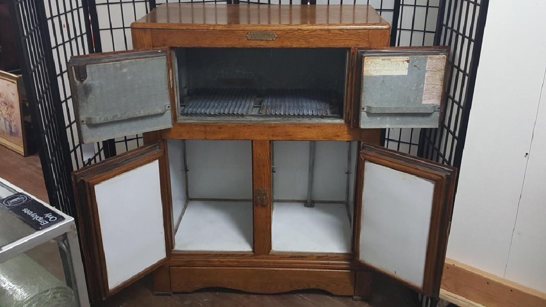 The Baldwin Antique Oak Ice Chest - 2