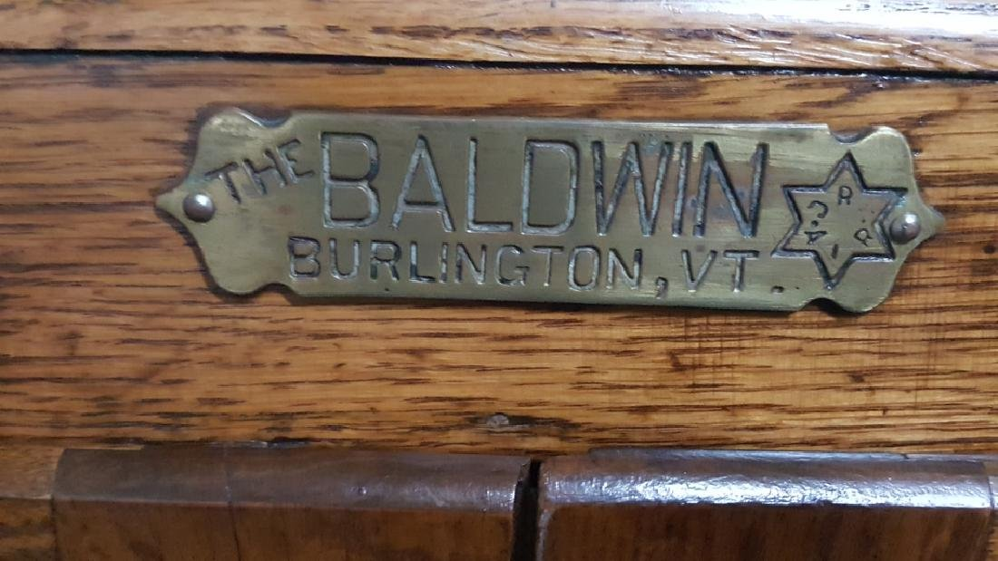 The Baldwin Antique Oak Ice Chest - 6