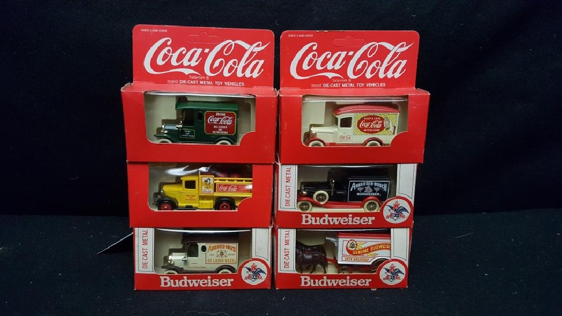 Coca-Cola & Budweiser Die-Cast Metal Trucks