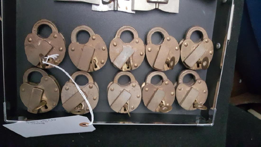 (10) J.H.W. Climax Co Bronze Pad Locks for NYCTA