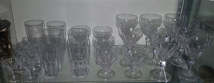 Staurt English Crystal Service for 6 with Extras