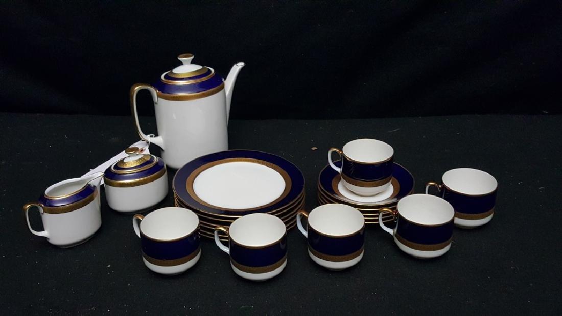 Hutschenreuther Cobalt & Gilt Tea Service (20 pcs)