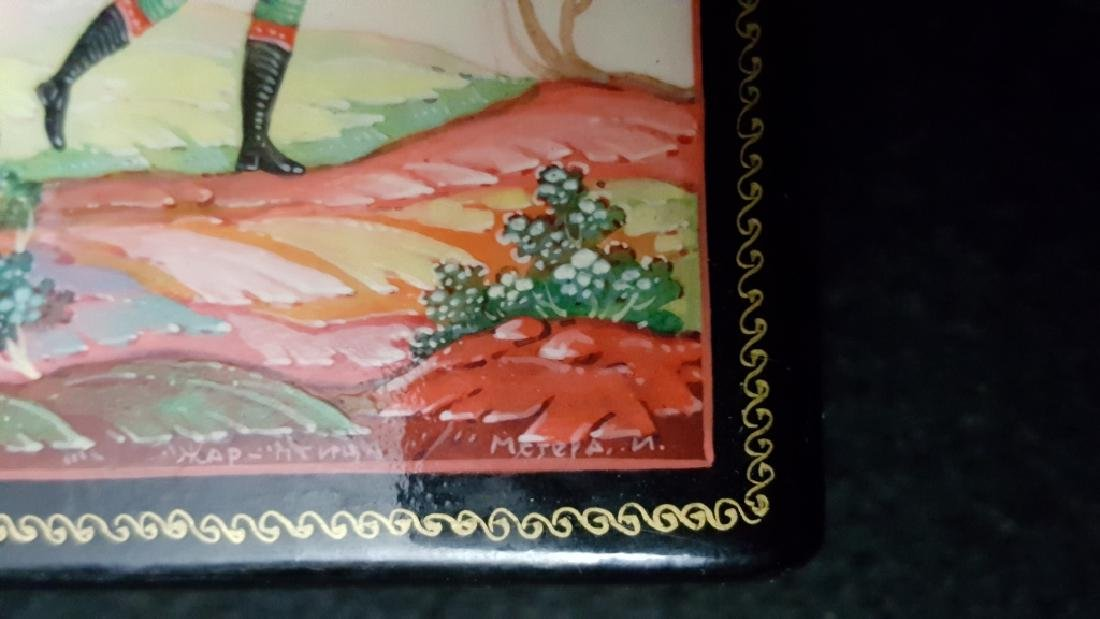 Group of Three Russian Papier Mache Boxes - 10