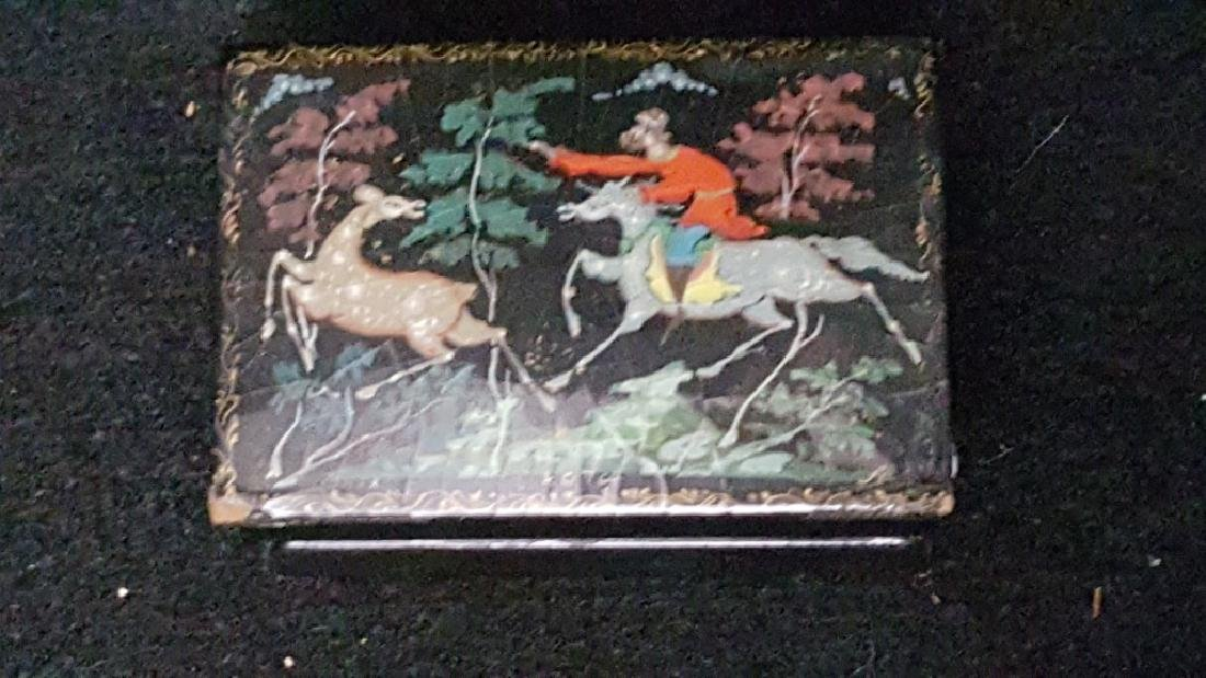 Group of Three Russian Papier Mache Boxes - 2