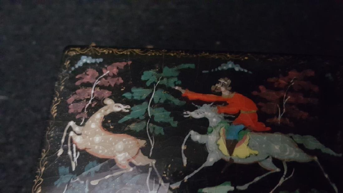 Group of Three Russian Papier Mache Boxes - 3