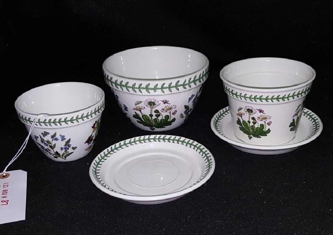 Portmeirion Botanic Garden Pottery Flower Pots