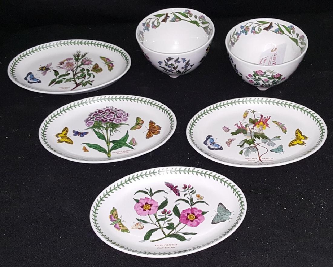 Portmeirion Botanic Garden Fruit Bowls & Oval Dish - 2