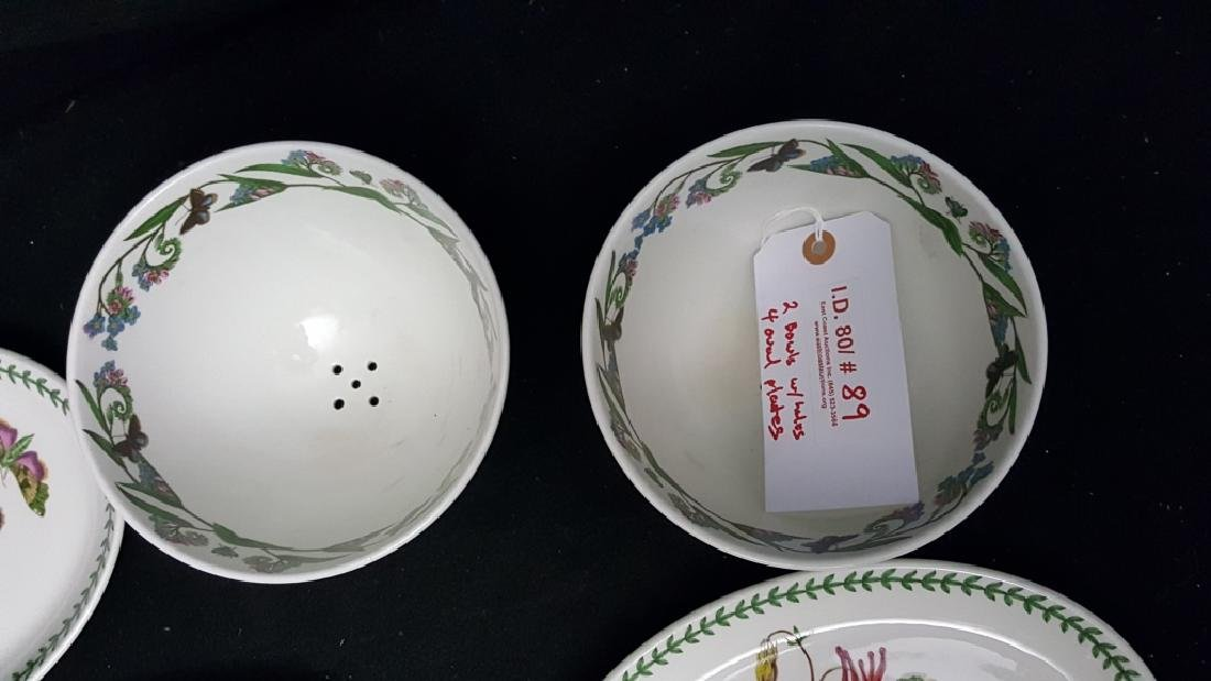 Portmeirion Botanic Garden Fruit Bowls & Oval Dish - 7