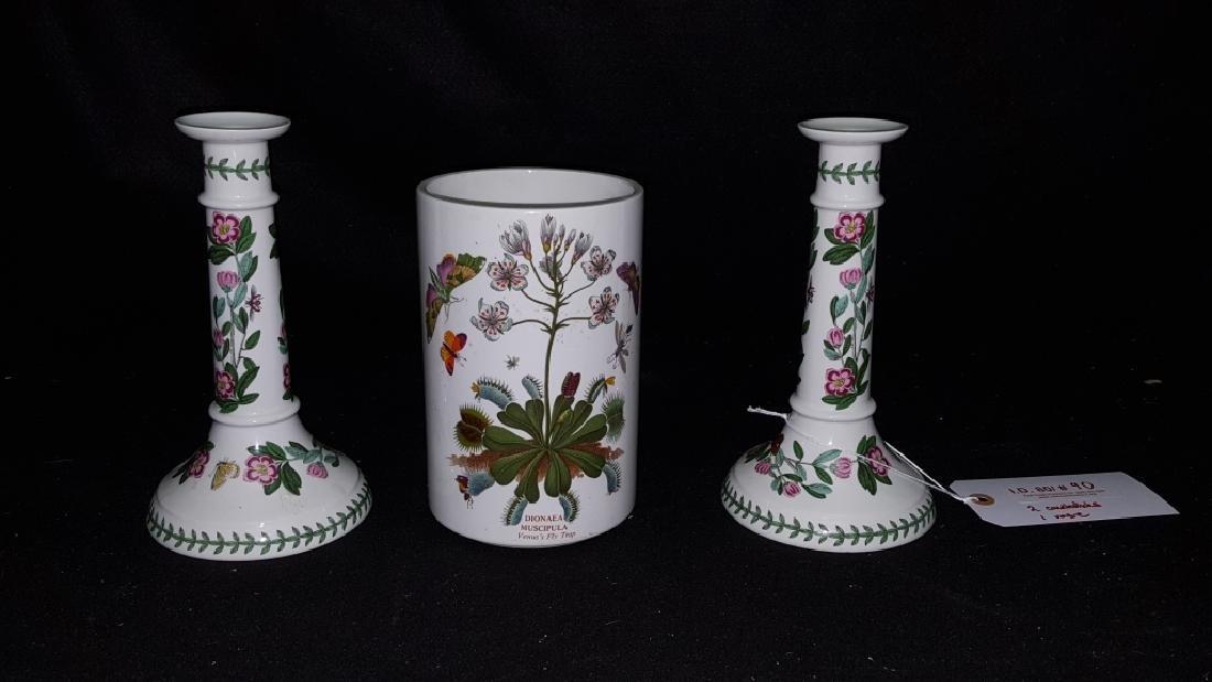 Portmeirion Botanic Garden Candlesticks & Vase