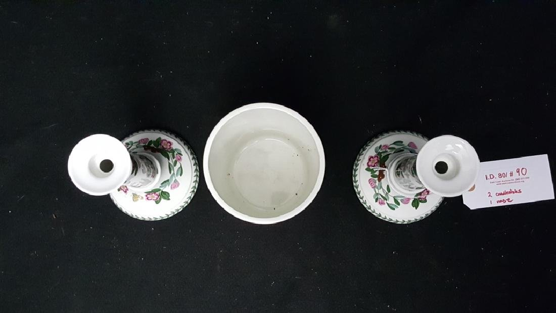 Portmeirion Botanic Garden Candlesticks & Vase - 2