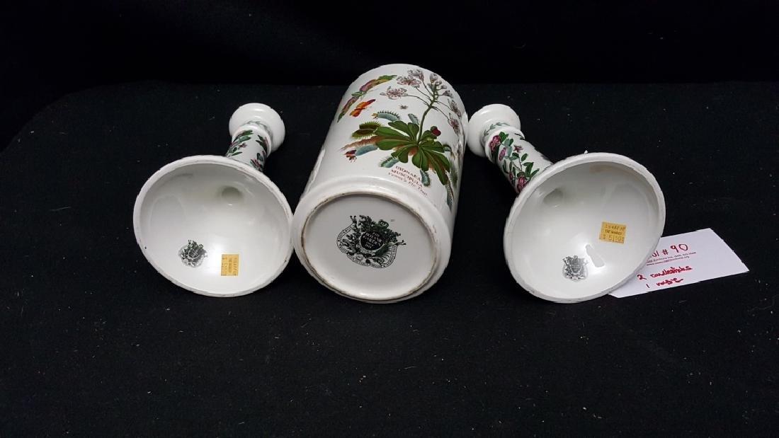 Portmeirion Botanic Garden Candlesticks & Vase - 3