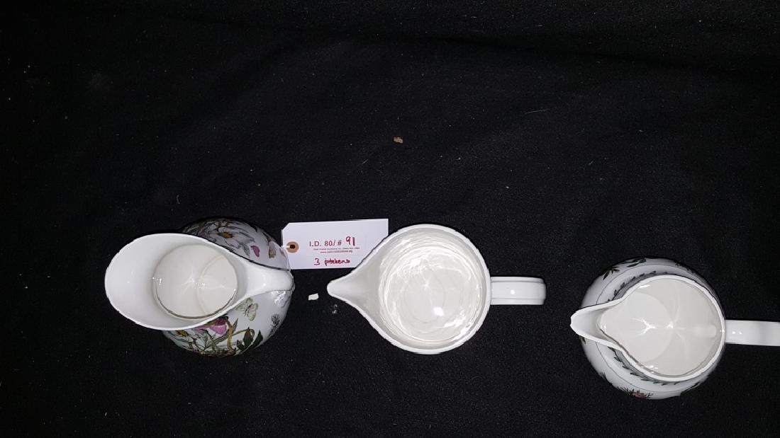 (3) Portmeirion Botanic Garden Pottery Pitchers - 2