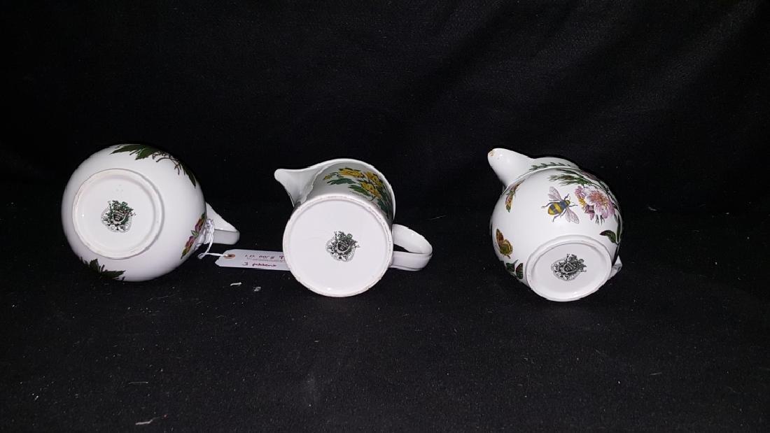(3) Portmeirion Botanic Garden Pottery Pitchers - 3