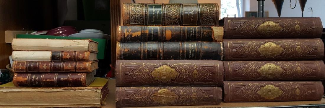 Group of Decorative Books, German (Leather)