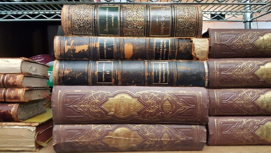 Group of Decorative Books, German (Leather) - 3
