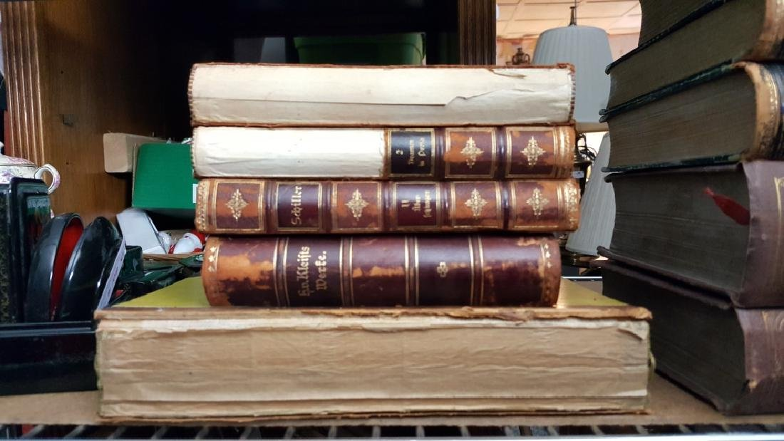 Group of Decorative Books, German (Leather) - 4