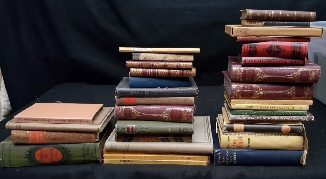 A Group of Decoratively Bound Books, German