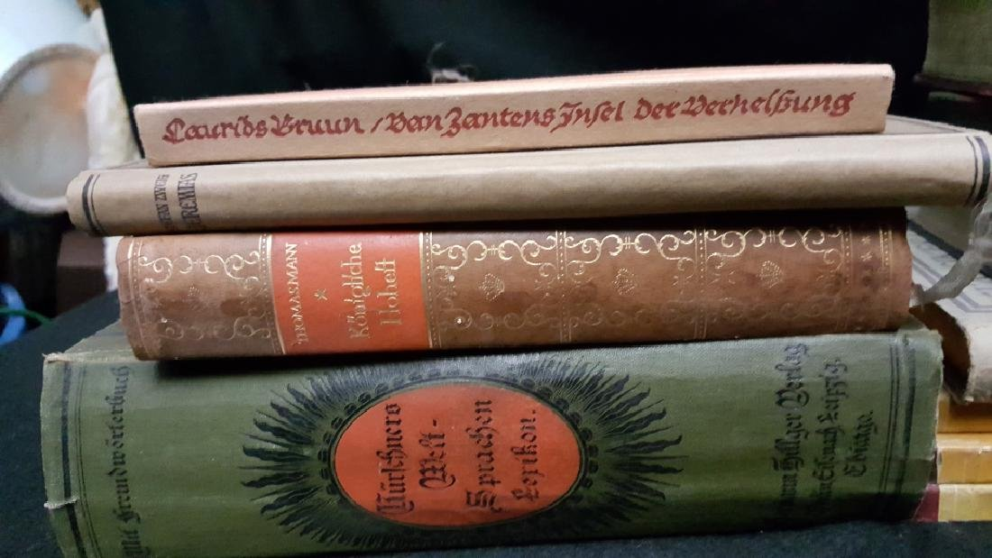 A Group of Decoratively Bound Books, German - 9