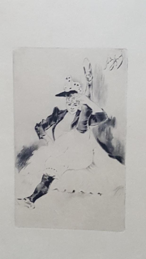 Louis LeGrand Erotic Engraving Le Salut Militaire - 2