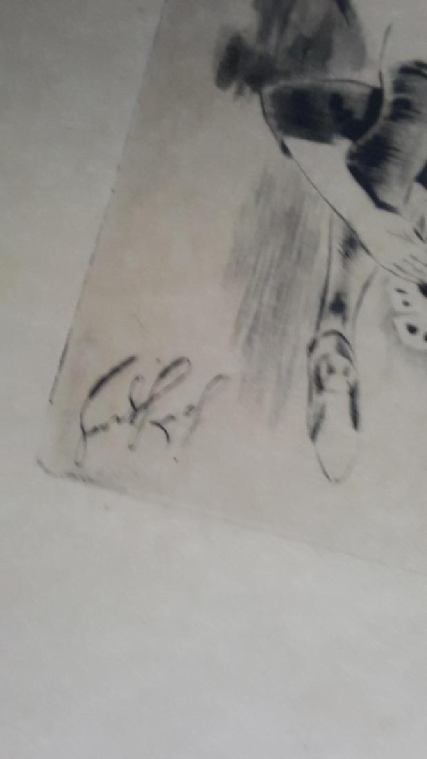 Louis LeGrand Erotic Engraving Le Salut Militaire - 3