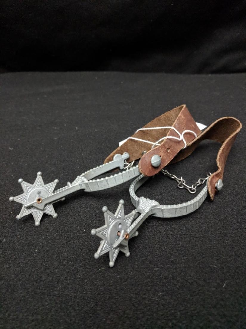 A Pair Of Vintage Toy Western Spurs - 2