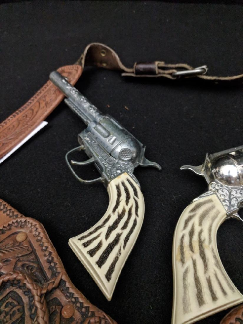 "Vintage ""Pony Boy"" Cap Guns and Holster Rig - 4"