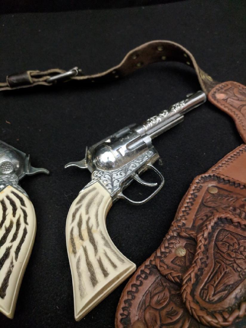 "Vintage ""Pony Boy"" Cap Guns and Holster Rig - 5"