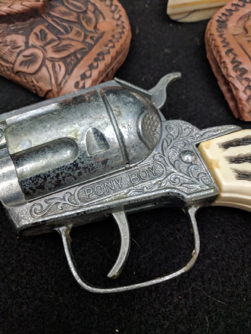 "Vintage ""Pony Boy"" Cap Guns and Holster Rig - 6"