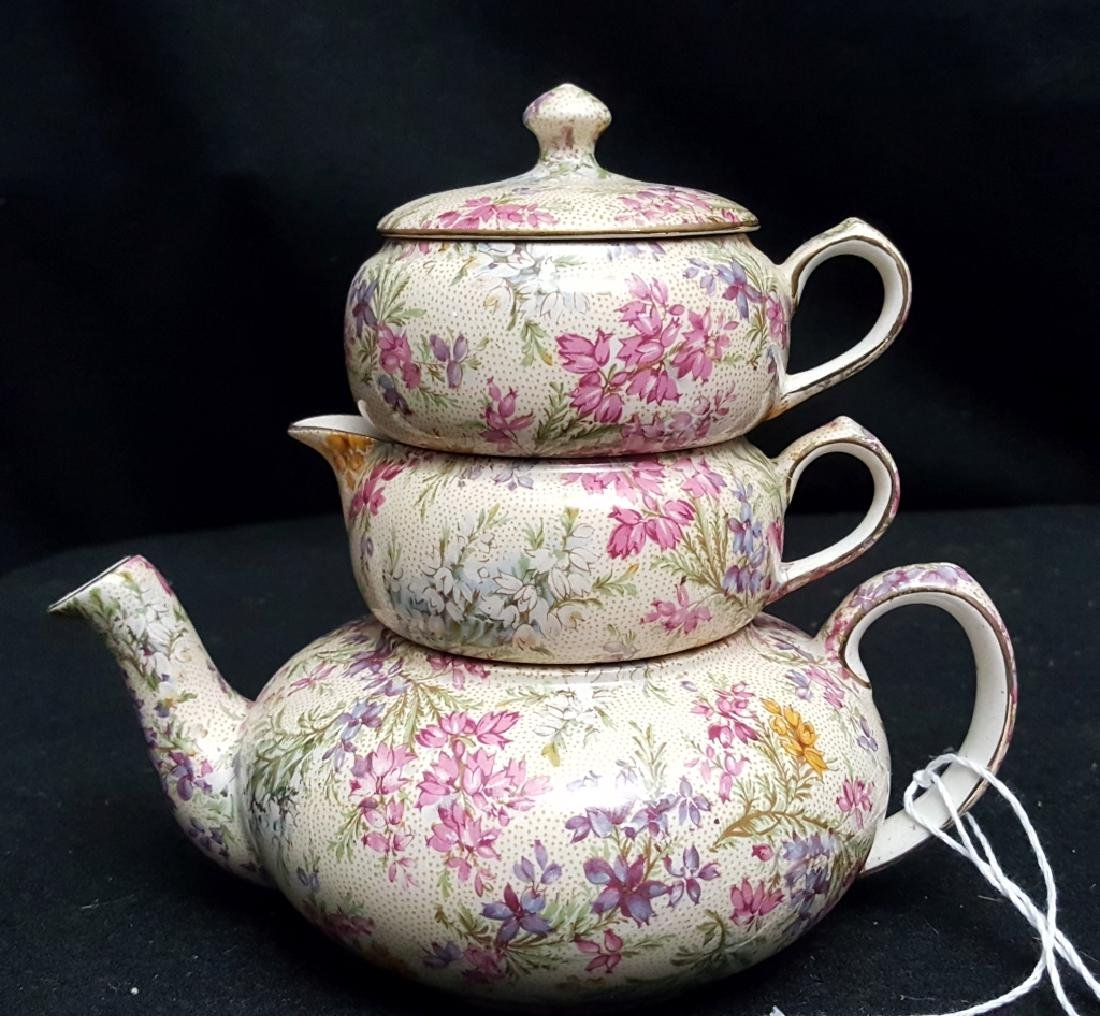 Lord Nelson Ware Rose Time Chintz Stacking Teapot